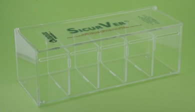 SICURVER BOX 5 ROTOLI IN PLEXIGLASS